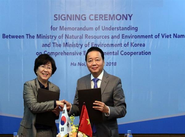 Bộ Tài nguyên và Môi trường Việt Nam hợp tác toàn diện với Bộ Môi trường Hàn Quốc