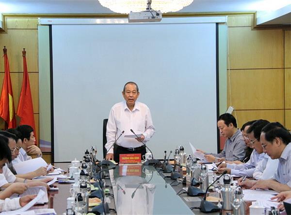 Phó Thủ tướng Trương Hòa Bình kiểm tra việc thực hiện Nghị quyết Trung ương 4 và Chỉ thị 05 tại Bộ TN&MT