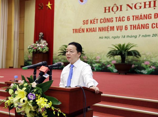 Bài phát biểu của Bộ trưởng Trần Hồng Hà tại Hội nghị Sơ kết công tác 6 tháng đầu năm và triển khai nhiệm vụ 6 tháng cuối năm 2016 của Bộ TN&MT