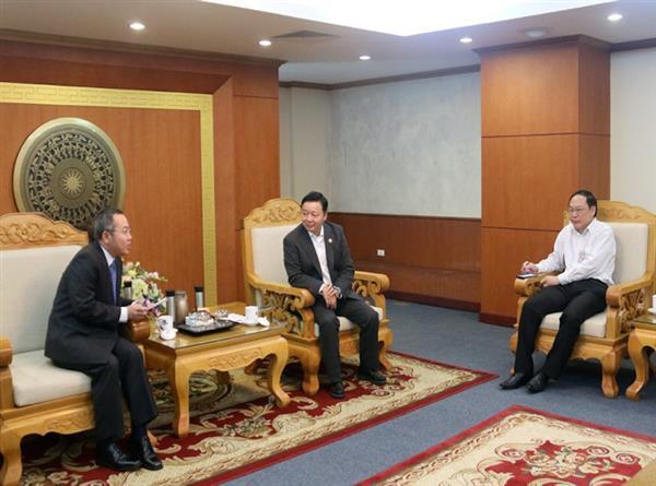 Bộ trưởng Trần Hồng Hà làm việc với Giám đốc điều hành Ban Thư ký Ủy hội sông Mê Công quốc tế